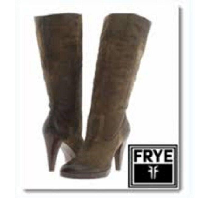 77343 Frye Harlow DAMEN Harlow Frye Camper Leder Stiefel 10 9ebb9b