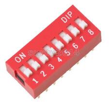 2Pcs Ways Slide Type Switch Black 2.54MM Dip 8-Bit Pitch 8 Positions Ic New si