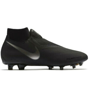 e731281f5 Nike Phantom VSN DF FG TRIPLE ALL BLACK AO3266-001 Men s Soccer ...