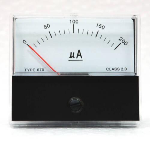 1pc Panel Current A Meter SD-670 60x70mm DC 200uA DC200uA Class 2.0 SD FlashStar