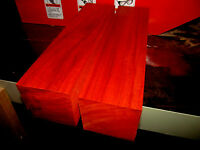 Two Kiln Dried Exotic Padauk Turning Blanks Lathe Lumber Peppermill 3 X 3 X 12