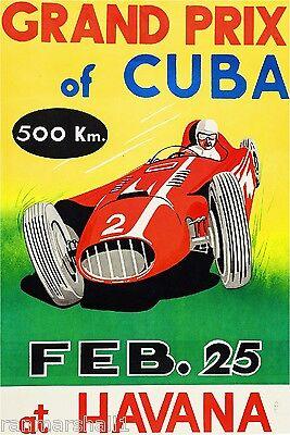 1955 Grand Prix af Frankrig Automobile Car Race Advertisement Vintage Poster