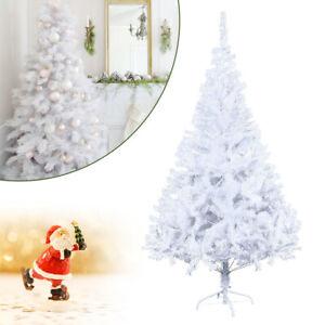 Christmas-Tree-4-7ft-White-Colorado-Metal-Stand-Traditional-Xmas-Christmas-Pine