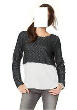 2-in-1-Pullover, Kurzpullover  Aniston , Gr. 44, grau