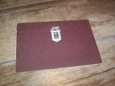 Brochure ROLLS ROYCE Silver Wraith avec tarifs1949 / with 1949 prices list //