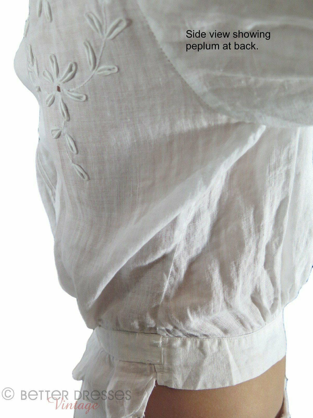 Antique Embroidered Blouse - xs, sm - image 8