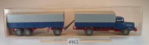480 Krupp Titan Hängerzug Pritsche//Plane azurblau  OVP #4463 Wiking 1//87 Nr