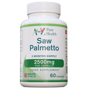 SAW PALMETTO estratto 60 capsule 2500 mg salute della prostata - Serenoa Repens