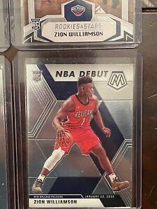 2019-20 Panini Mosaic Zion Williamson NBA Debut RC Rookie #269 Pelicans