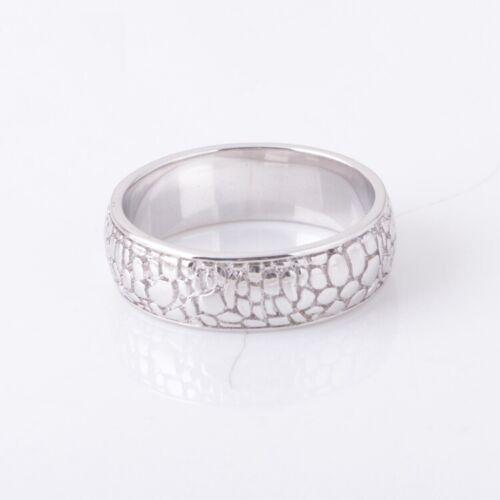 Men/'s Solid 925 Sterling Silver Textured Ring Alligator Skin Handmade UK