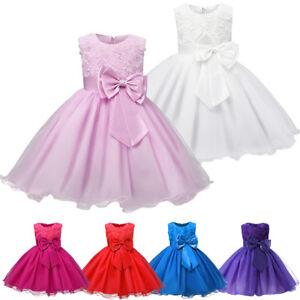 Flower Girl Dress Kids Princess Party Wedding Pageant Formal Tulle Tutu Dresses