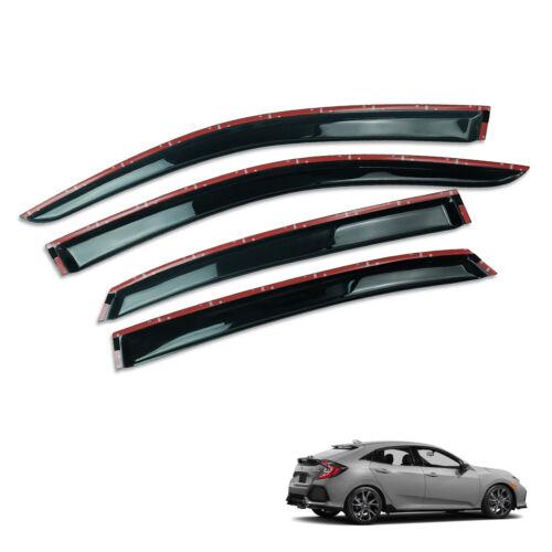 For Honda Civic FC Hatchback 17 18 Wind Deflector Weather Visor Door Guard Black