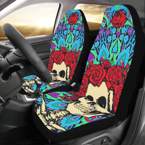 How To Make Car Seat Covers >> Details About Grateful Dead Compatible Universal Fit Car Seat Cover Set Of 2
