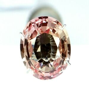 6.45 Ct Natural Padparadscha Sapphire Ceylon Oval Cut Certified Loose Gemstone