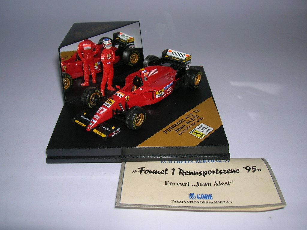 Göde édition FORMULE 1 FERRARI 412 T2 avec Caractère du conducteur Jean Alesi ,