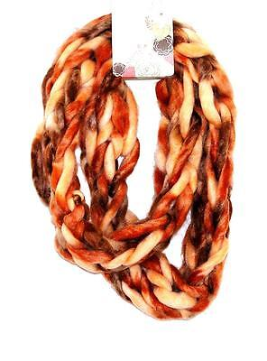 SCARF Infinity Style Ombre Beige Orange Brown Tan WARM