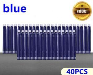 Disposable Blue & Black Fountain Pen Ink Cartridge Refills Fountain Pens Refills