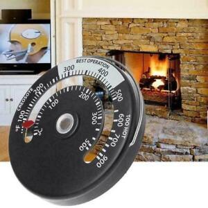 Kamin-Thermometer-Holzklotz-brennende-Ofen-Heizungs-Rauchrohre-Feuer-Z7Y9