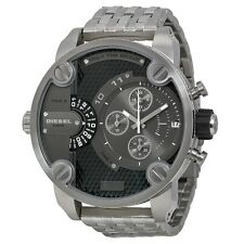 NEW DIESEL DZ7259 MENS BABY DADDY CHRONOGRAPH SILVER WATCH
