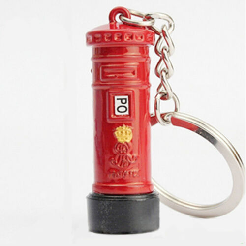 Cute British Miniature London Model Key Ring Keychain Souvenir Red Bus Taxi YX