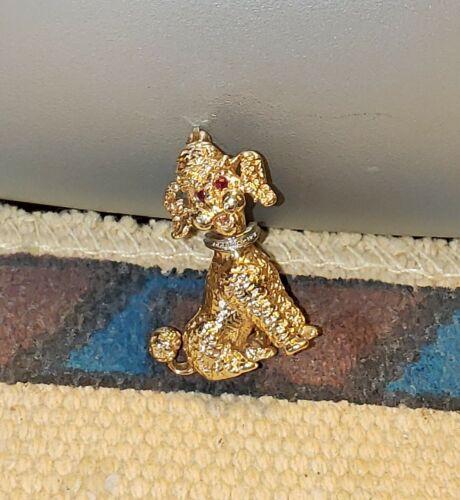 14K Gold Poodle Pin