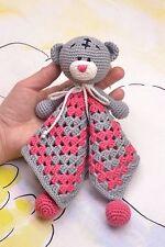 Crochet Teddy Bear baby comforter toy crochet baby toy Bear