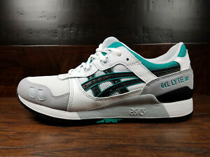 Details about Asics GEL-LYTE 3 III (Black / White / Teal) 1191A223-100 Classic Running Mens