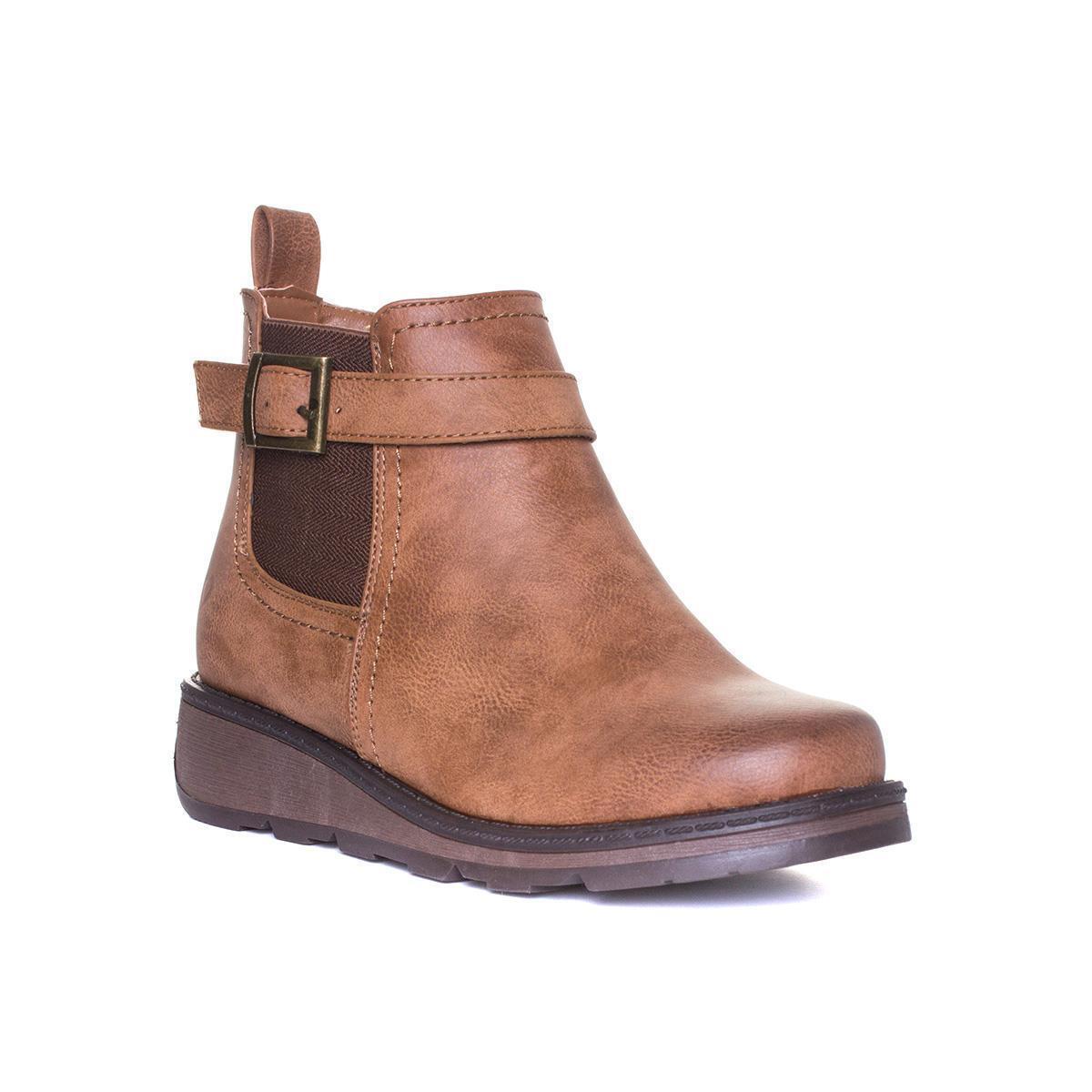 Heavenly Feet Womens Tan Wedge Boot - Sizes 3,4,5,6,7,8
