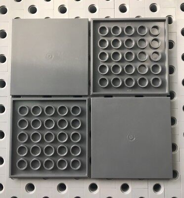 Lego 8x16 Black Flat Tiles Smooth Finishing MODULAR BUILDINGS Floor New Lot Of 2