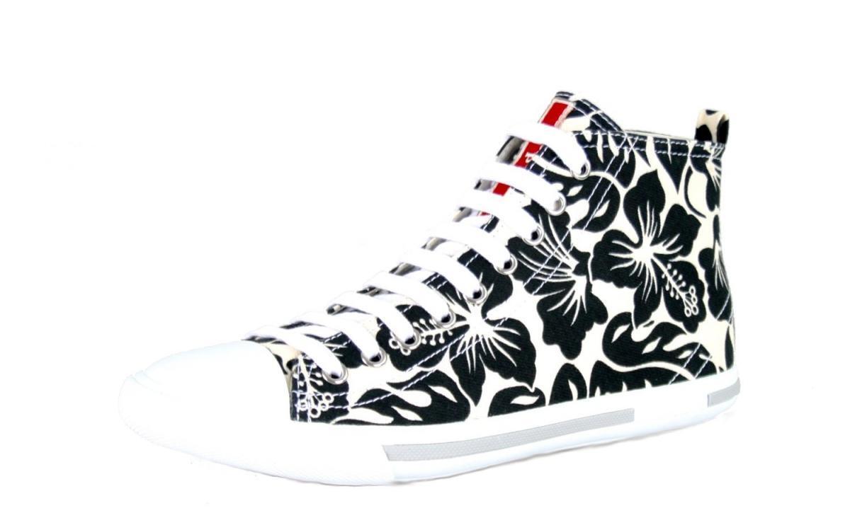 shoes PRADA LUSSO 3T5731 BIANCO black NUOVE 38,5 39