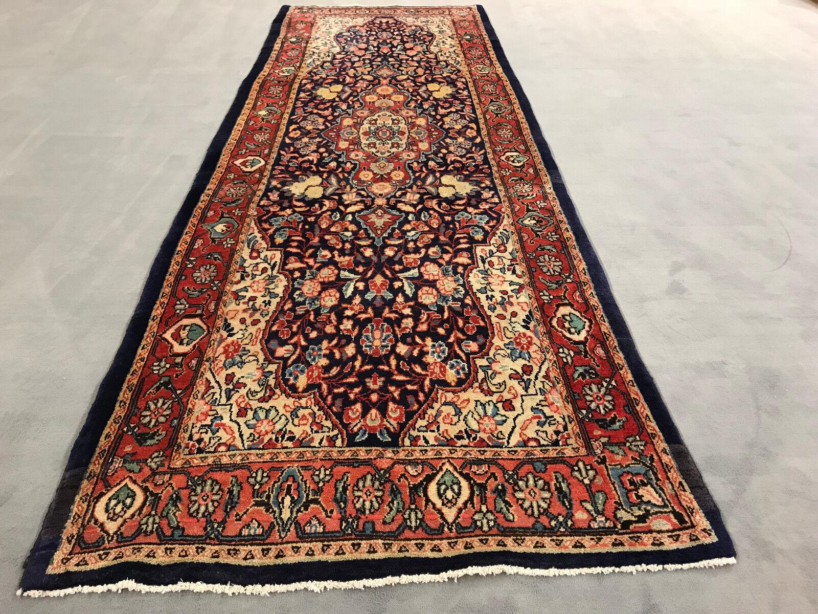 Sarough Orient alfombra persa alfombra 3,53x1,13 m  exclusiva de arte del suelo