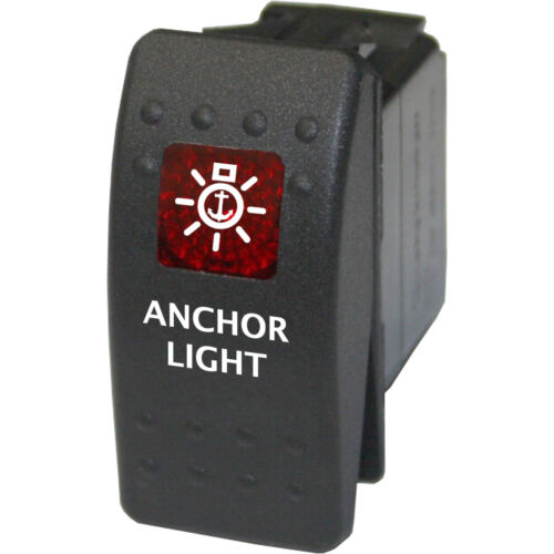 Rocker switch 711 red 12V ANCHOR LIGHTS hatch helm deck bow marine