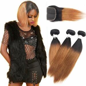 tissage-bresilien-en-lot-avec-closure-cheveux-humains-Ombre-auburn-human-hair