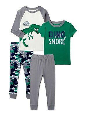 NWT Carter/'s Boys sz 3T 4T 5T Dinosaur 4-Piece Snug Fit PJs Pajamas Cotton New