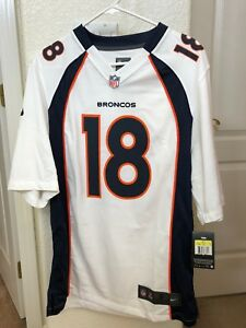 super popular c2686 437d1 Details about NIKE DENVER BRONCOS PEYTON MANNING JERSEY WHITE NFL SIZE  SMALL ON FIELD