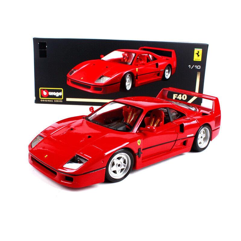Burago 1:18th rosso color Ferrari F40 Car Vehicles Model Collection