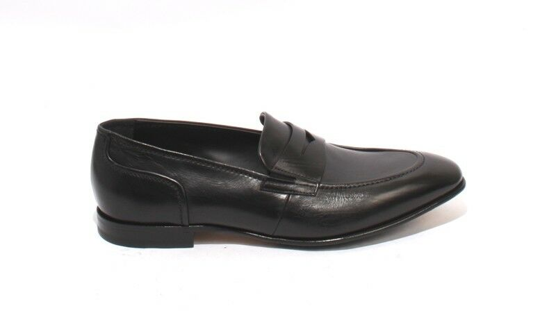 FABI 7919 Black Leather Loafers shoes 44     US 11 d941b5