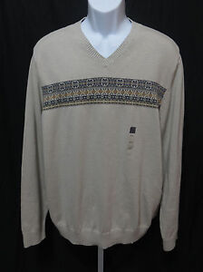 NWOT-Arrow-Mens-Size-XL-Long-Sleeve-V-Neck-Sweater-100-Cotton-Knit-Top