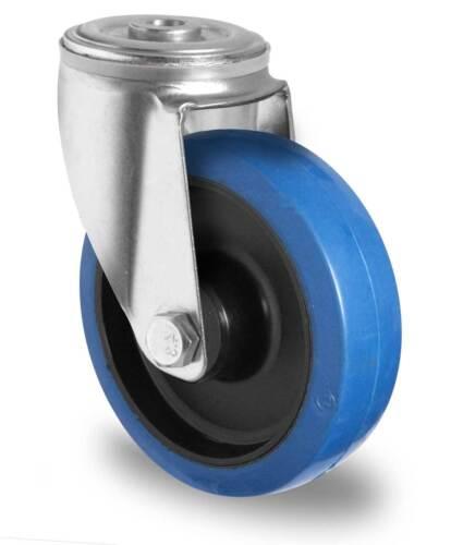 Blue Wheels Lenkrolle 200 mm Rückenloch ohne Bremse Rolle Rad