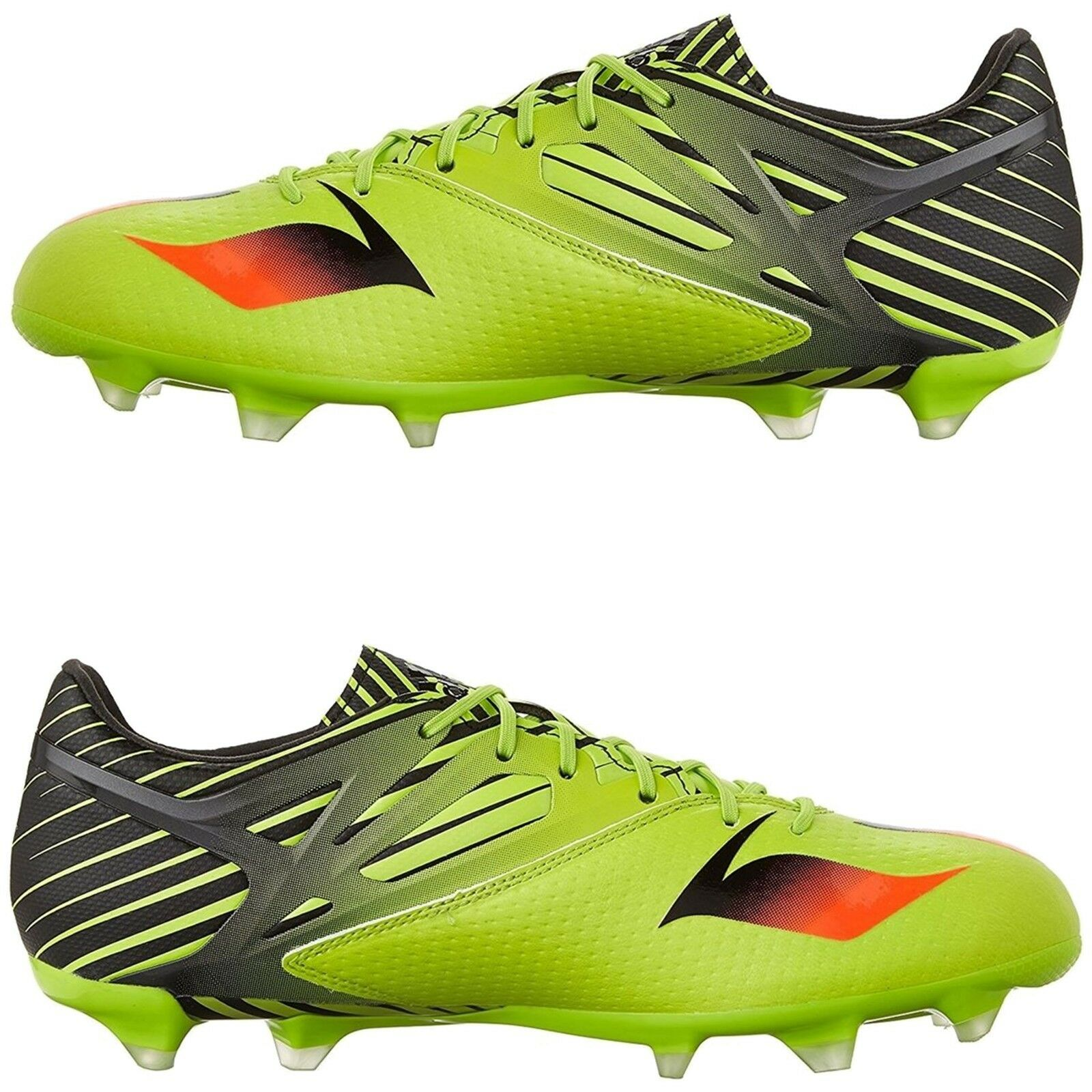 Adidas Men Athletic shoes Messi 15.2 Soccer shoes Semi Solar Slime Cleats