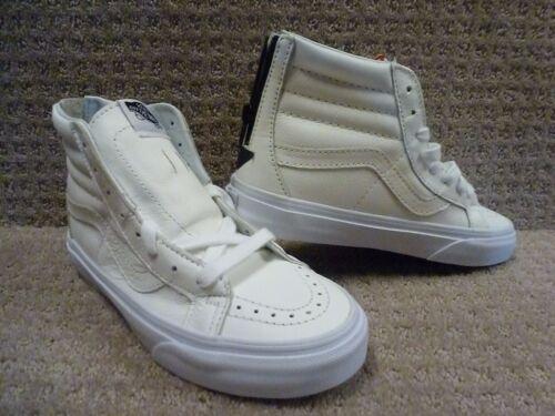 Sk8 Blancas Negro Premium piel Vans Reissue Hombre Zapatos Cremallera hi w7FqBYB