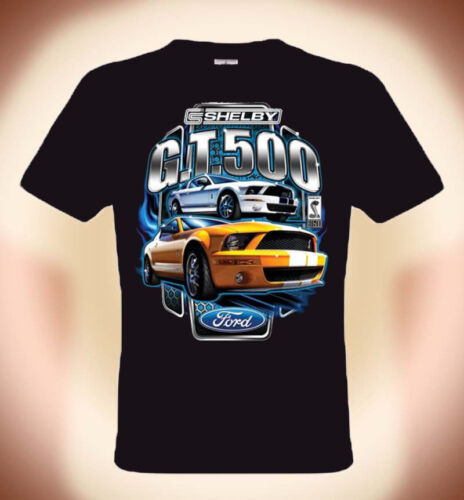 T-Shirt Ford Mustang, Shelby Cobra GT 500, YELLOW, S -- 3XL (bis 5XL mögl.+3€)