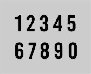 Ideal f/ür Hausnummer /& Briefkasten 8cm Zahlen Reflektierende Aufkleber Schwarz//Silber