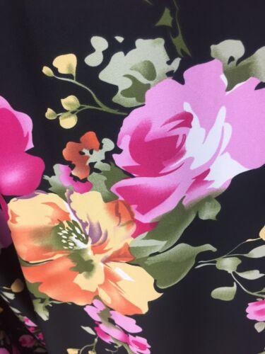 "Designer Stretch Jersey Print Floral Multicolour Wedding Light 58"" Wide"