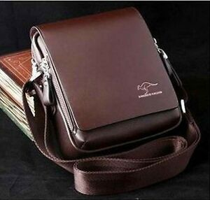Authentic-kangaroo-kingdom-Men-039-s-Genuine-Leather-PU-Small-Shoulder-bag-M155S