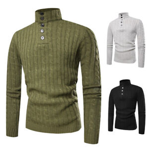 81c5dd6851dcd1 Men s Slim Fit Knitted Sweater Turtle Neck Men Turtleneck Sweaters ...