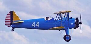 Details about Boeing-Stearman Model 75 Military Trainer Aircraft Desktop  Wood Model Small New