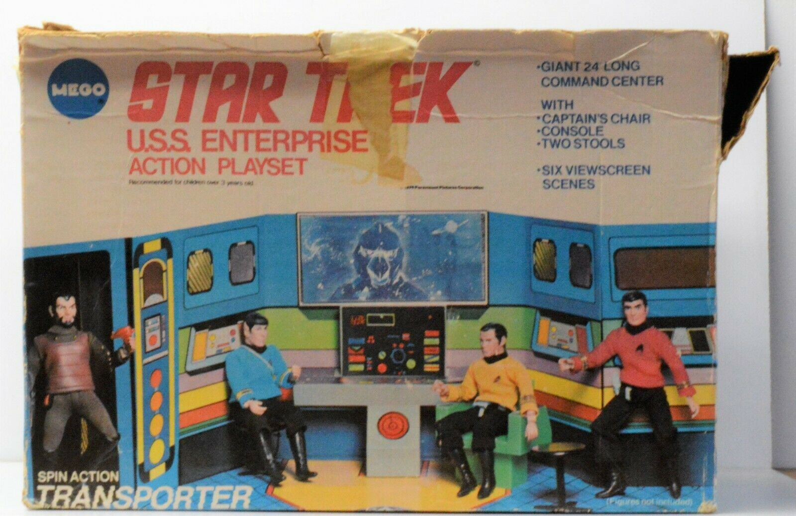 MEGO Star Trek U.S.S. Enterprise playset vintage in box 1974