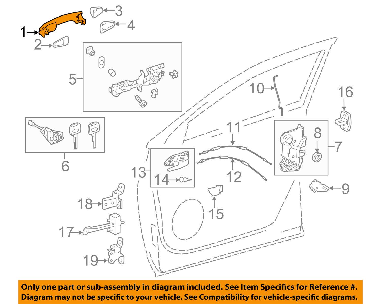 Genuine Toyota 69210-0E080-A0 Door Handle Assembly