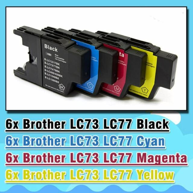 24x Ink Cartridge LC73 LC77 LC40 for Brother Printer DCP J525W J725DW J925DW